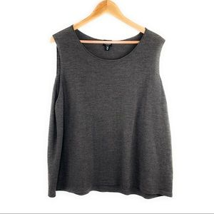 Eileen Fisher Wool Sleeveless Knit Blouse